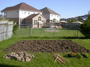 The garden after all of the tilling