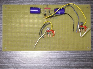Theremin board with two 260kHz oscillators